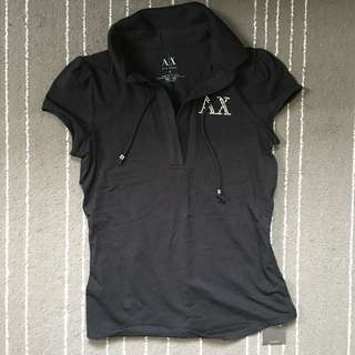 🌻 New Armani Exchange AX black tee top