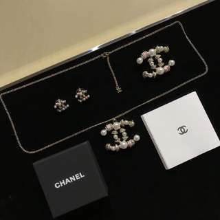 Chanel earrings necklace
