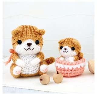 Crochet Kit - Parent Cat & Baby Cat HAMANAKA