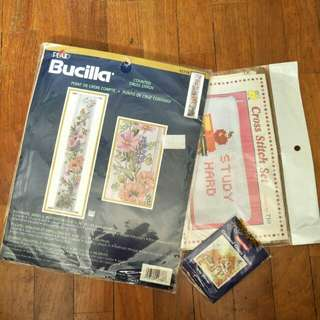 Bucilla's Flowers, Birds & Butterflies Cross Stitch Kit