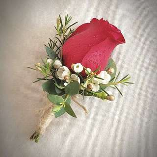 Wedding Fresh Flowers : Boutonnieres and Corsages