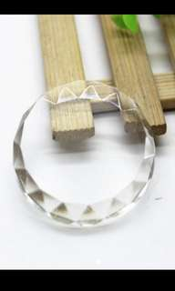 Lash adhesive crystal glass glue plate