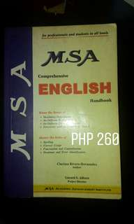 MSA Comprehensive English book