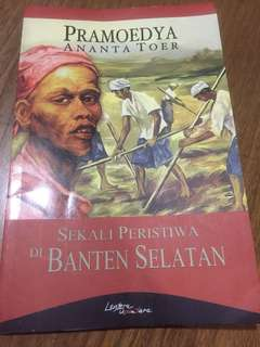 Novel Sekali Peristiwa di Banten Selatan