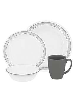 Corelle Livingware 16 Piece Dinnerware Set mystic gray
