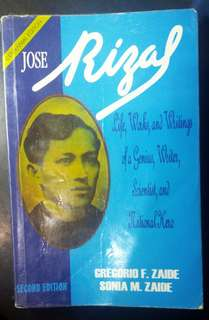 Jose Rizal Life, Works and Writings (Zaide)