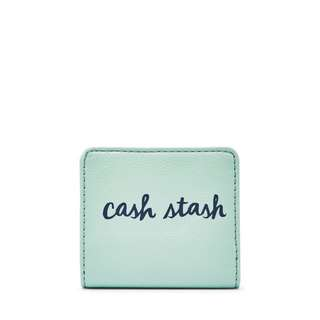 Mini Wallet fossil leather mint