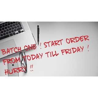Open For Order !