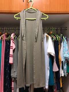 DIY long vest (above the knee length)