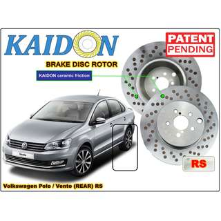 "Volkswagen Polo / Vento brake disc rotor KAIDON (REAR) type ""RS"" / ""BS"" spec"