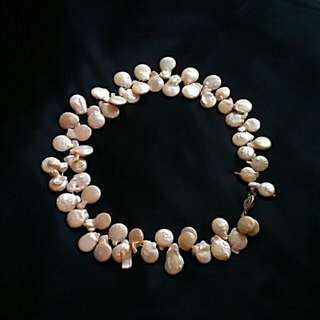 Baroque pearl necklace genuine 26""