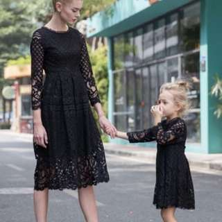 Mother and daughter lace dress