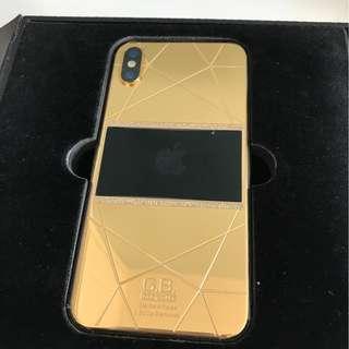 24K 鍍金鑲鑽 iPhone X 256GB