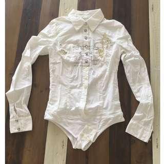 Cotton shirt / bodysuite XS