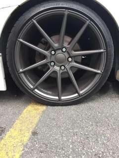 19inch rim 5x114.3 8.5-9.5 with eibach spring Civic Fd2 model