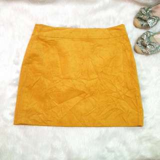 Banana Republic Yellow Mustard Corduroy Skirt