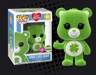 FUNKO POP - CARE BEARS - GOOD LUCK BEAR FLOCKED 2018 SPRING CONVENTION EXCLUSIVE