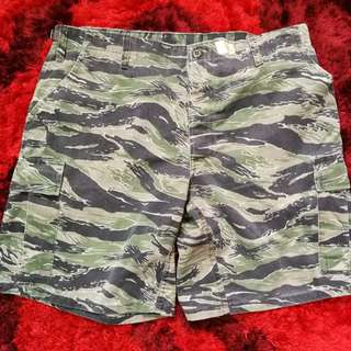 Army Short Pants Tiger Stripe