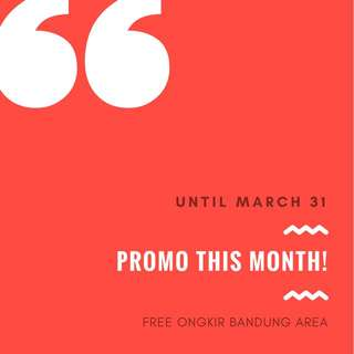 PROMO THIS MONTH!