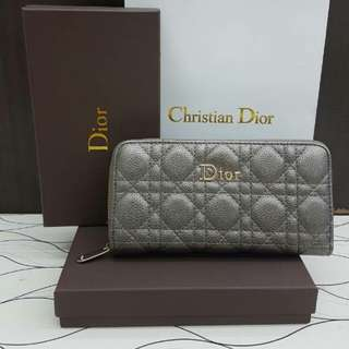Dior Wallet Grey Color