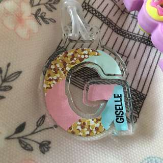 Custom Personalised Bag Tag - Funky Initial