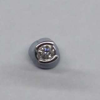 18K鉑金鑽石耳環