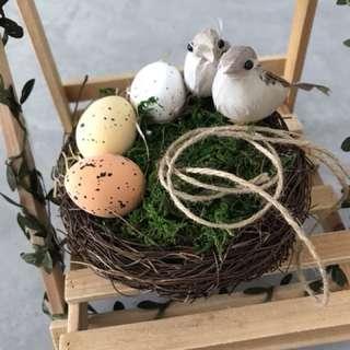 Handmade bird nest ring pillow holder