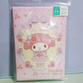 Sanrio My Melody datebook/ Organiser Feb 2017- May 2018