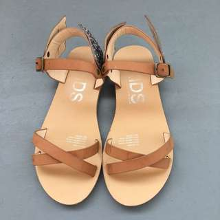Cotton On Leather Sandal Fit 7-8Y
