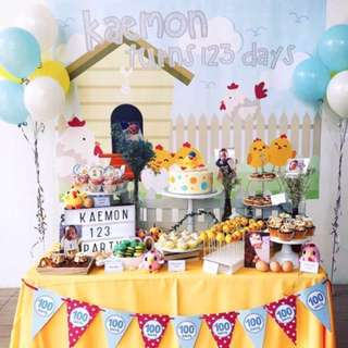 Customised backdrop for parties (repost @happykidslemonade) (birthday baby shower party colourful decorate 21st birthday diy personalised wedding dessert table cake bunting banner balloon photo booth photobooth)