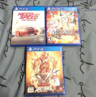 Need For Speed Payback / Nitro+ Blasterz / Guilty Gear X