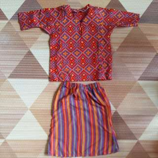 Baju Kurung Jakel (3-6m for chubby baby / 6-9m for small baby)