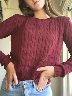 AMERICAN APPAREL burgundy knit jumper