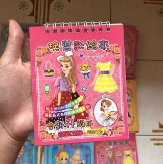 [NEW] PAPER DOLL STICKERS TYPE (for girls) - goodie bag