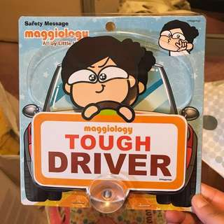 Maggiology little horse Car tough driver display accessories 小馬仔安全掛牌