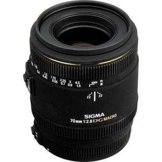Kredit Sigma 70mm f2.8 EX DG Macro