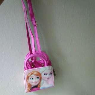 Frozen pink bag girls