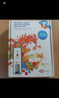 Preloved Telstra Turbo Prepaid Mobile Broadband Tongle
