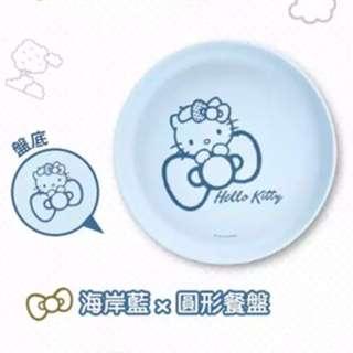 台灣 7-11 限定款 Hello Kitty 竹纖餐盤 (海岸藍) 免費平郵或免費順豐站自取