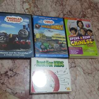 Thomas & Friends / Just for Kids Music CDs and