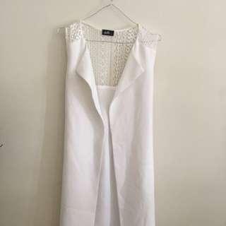 White summer vest