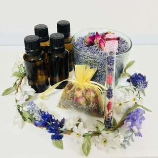 Customized pure essential oil blend