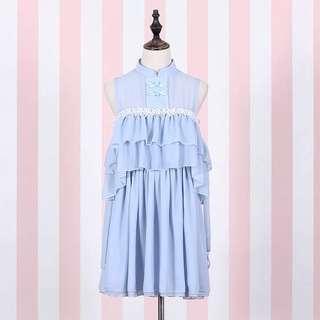 Chinese Light Blue Dress