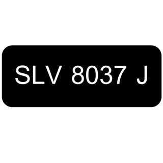 Car Number Plate for Sale: SLV 8037 J