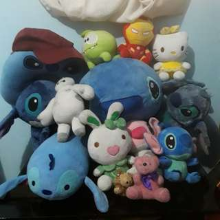 Stuff toys (stitch and others)