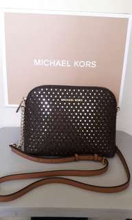 NIB Michael Kors Cindy Perforated Crossbody