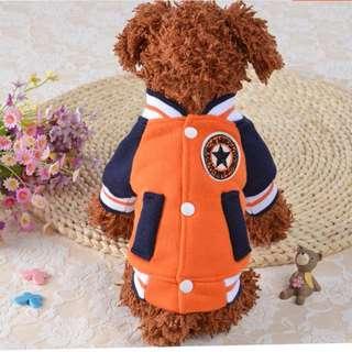 88雜貨鋪 寵物衣服 新款棒球服衛衣兩腳衣 貓狗衣服 馬爾濟斯/貴賓/博美/吉娃娃