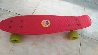 penny board with real metal trucks black cost 600 and rubber wheels cost 300
