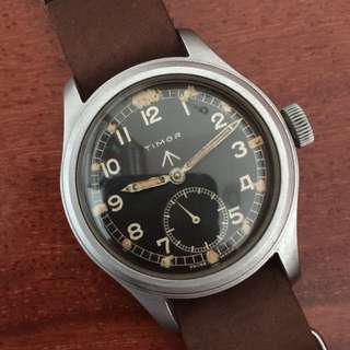 TIMOR 1940's WWW British Military Issued WW2 Army Vintage Wrist Watch RARE