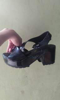 Jelly Shoes Heels Black Size 38